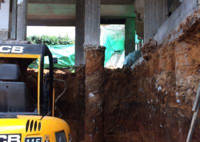 תוספת קומה וחפירת מרתף מתחת לבית קיים