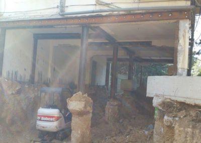 תל אביב חפירת מרתף מתחת לבניין קיים